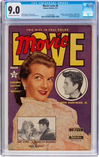 Movie Love #8 (Famous Funnies Publications, 1951) CGC VF/NM 9.0 Off-white to white pages