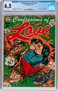 Confessions of Love #11 (Star Publications, 1952) CGC FN+ 6.5 Off-white pages