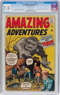 Silver Age (1956-1969):Horror, Amazing Adventures #1 (Marvel, 1961) CGC VF- 7.5 Off-whitepages....
