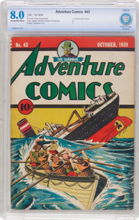 Adventure Comics #43 (DC, 1939) CBCS VF 8.0 Cream to off-white pages