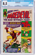 Silver Age (1956-1969):Superhero, Daredevil #1 (Marvel, 1964) CGC VF+ 8.5 Off-white pages....