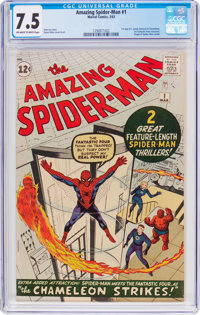 The Amazing Spider-Man #1 (Marvel, 1963) CGC VF- 7.5 Off-white to white pages