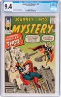 Silver Age (1956-1969):Superhero, Journey Into Mystery #95 (Marvel, 1963) CGC NM 9.4 Cream tooff-white pages....