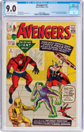 Silver Age (1956-1969):Superhero, The Avengers #2 (Marvel, 1963) CGC VF/NM 9.0 Off-white to whitepages....