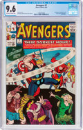 Silver Age (1956-1969):Superhero, The Avengers #7 (Marvel, 1964) CGC NM+ 9.6 Off-white to white pages....