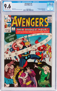 The Avengers #7 (Marvel, 1964) CGC NM+ 9.6 Off-white to white pages