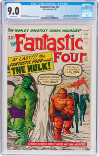 Fantastic Four #12 (Marvel, 1963) CGC VF/NM 9.0 Off-white pages
