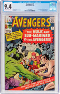 Silver Age (1956-1969):Superhero, The Avengers #3 (Marvel, 1964) CGC NM 9.4 Off-white to whitepages....
