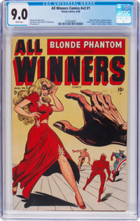 All Winners Comics V2#1 (Timely, 1948) CGC VF/NM 9.0 White pages