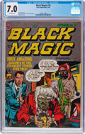 Golden Age (1938-1955):Horror, Black Magic #16 (Crestwood/Headline, 1952) CGC FN/VF 7.0 Off-whitepages....