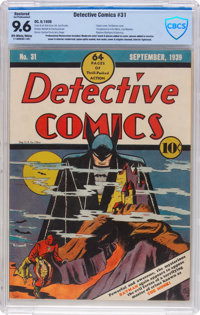 Detective Comics #31 (DC, 1939) CBCS Apparent NM+ 9.6 Extensive (P) Off-white to white pages