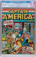 Golden Age (1938-1955):Superhero, Captain America Comics #1 (Timely, 1941) CGC VG- 3.5 Light tan tooff-white pages....