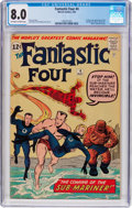 Silver Age (1956-1969):Superhero, Fantastic Four #4 (Marvel, 1962) CGC VF 8.0 Off-white to white pages....
