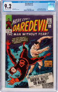 Silver Age (1956-1969):Superhero, Daredevil #7 (Marvel, 1965) CGC NM- 9.2 Off-white to whitepages....