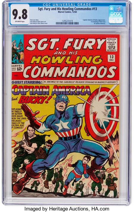 Sgt. Fury and His Howling Commandos #13 (Marvel, 1964) CGC NM/MT 9.8 Off-white pages....