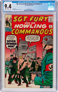 Sgt. Fury and His Howling Commandos #2 (Marvel, 1963) CGC NM 9.4 Off-white to white pages
