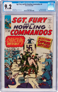 Sgt. Fury and His Howling Commandos #9 (Marvel, 1964) CGC NM- 9.2 Off-white to white pages