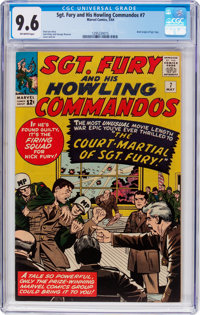 Sgt. Fury and His Howling Commandos #7 (Marvel, 1964) CGC NM+ 9.6 Off-white pages
