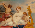Fine Art - Painting, European:Antique  (Pre 1900), After William Etty . The Coral Finder: Venus and her YouthfulSatellites . Oil on canvas. 13-1/2 x 17 inches (34.3 x 43....