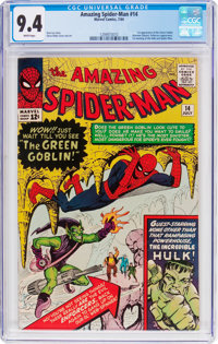 The Amazing Spider-Man #14 (Marvel, 1964) CGC NM 9.4 White pages