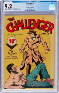 Challenger #3 Mile High Pedigree (Interfaith Committee, 1946) CGC NM- 9.2 Off-white to white pages