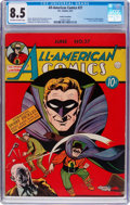 Golden Age (1938-1955):Superhero, All-American Comics #27 Cosmic Aeroplane Pedigree (DC, 1941) CGC VF+ 8.5 Off-white to white pages....
