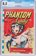 Golden Age (1938-1955):Superhero, Phantom Lady #18 (Fox Features Syndicate, 1948) CGC VF+ 8.5 Off-white to white pages....
