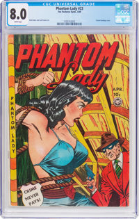 Phantom Lady #23 (Fox Features Syndicate, 1949) CGC VF 8.0 White pages