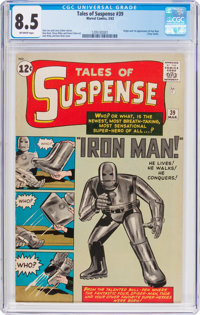 Tales of Suspense #39 Iron Man (Marvel, 1963) CGC VF+ 8.5 Off-white pages