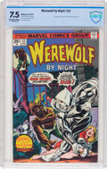 Bronze Age (1970-1979):Horror, Werewolf by Night #32 (Marvel, 1975) CBCS VF- 7.5 Off-white towhite pages....