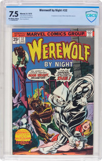 Werewolf by Night #32 (Marvel, 1975) CBCS VF- 7.5 Off-white to white pages