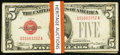 Small Size:Legal Tender Notes, $5 Legals Twenty-five Examples.. ... (Total: 25 notes)