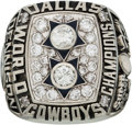 Football Collectibles:Uniforms, 1977 Dallas Cowboys Super Bowl XII Championship Ring Presented toRunning Back Doug Dennison.. ...