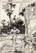 Original Comic Art:Splash Pages, Howard Chaykin and Ernie Chan Conan the Barbarian #82 SplashPage 22 Original Art (Marvel, 1978)....