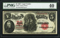 Large Size:Legal Tender Notes, Fr. 88 $5 1907 Legal Tender PMG Extremely Fine 40.. ...