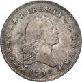 Early Half Dollars, 1795 50C 2 Leaves, Small Head, O-128, T-18, High R.5, Fine 12PCGS....