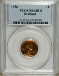 Proof Lincoln Cents: , 1936 1C Type Two--Brilliant Finish PR63 Red PCGS. PCGS Population (128/535). NGC Census: (43/278). Mintage: 5,569. Numismed...