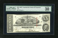 """Confederate Notes:1863 Issues, T58 $20 1863. PMG has bestowed upon this note it's coveted""""Exceptional Paper Quality"""" modifier. PMG Very Fine 30 EPQ...."""