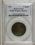 Colonials: , 1783 1C Washington & Independence Cent, Draped Bust, ButtonVF25 PCGS. PCGS Population (2/15). NGC Census: (0/0). (#679)...