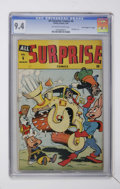 """Golden Age (1938-1955):Funny Animal, All Surprise #6 Davis Crippen (""""D"""" Copy) pedigree (Timely, 1944)CGC NM 9.4 Off-white to white pages...."""