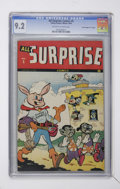 "Golden Age (1938-1955):Funny Animal, All Surprise #5 Davis Crippen (""D"" Copy) pedigree (Timely, 1944)CGC NM- 9.2 Off-white to white pages...."