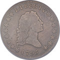 Early Half Dollars, 1795 50C 2 Leaves, Small Head, O-126a, T-22, High R.4, Fine 15PCGS....