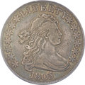 Early Half Dollars, 1803 50C Small 3, Large Reverse Stars, O-104, T-4, R.3, XF40 PCGS.CAC....