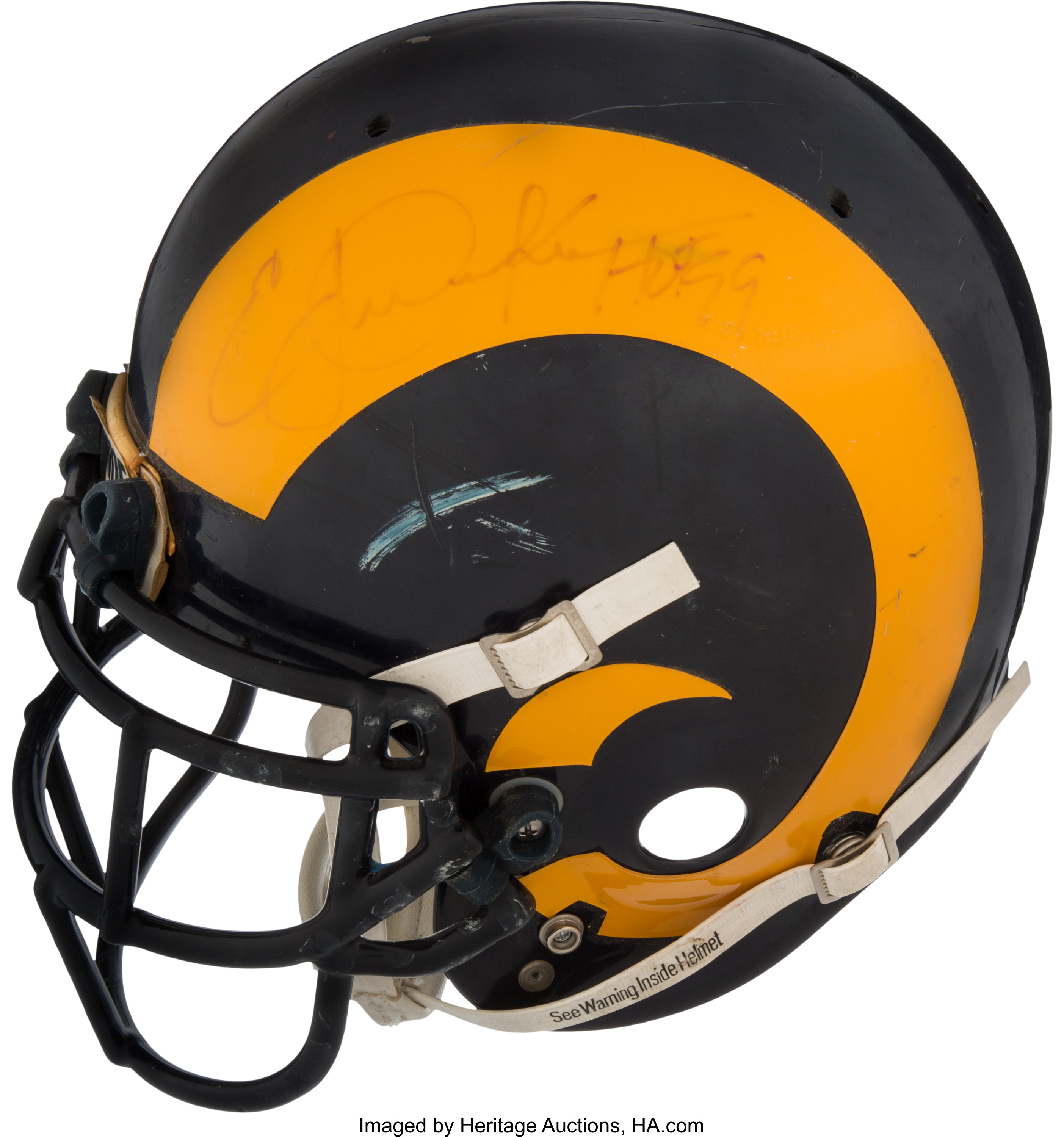 1980 s eric dickerson game worn signed los angeles rams lot 80103 heritage auctions heritage auctions sports