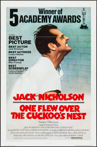 "One Flew Over the Cuckoo's Nest (United Artists, 1975). One Sheet (27"" X 41"") Academy Awards Style"