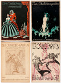 Memorabilia:Miscellaneous, Der Orchideengarten Group of 8 (1920-21) Condition: Average GD/VG.... (Total: 8 Items)