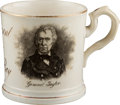 Political:3D & Other Display (pre-1896), Zachary Taylor and George Washington: Soft Paste Portrait Mug....