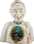 Political:3D & Other Display (1896-present), Woman's Suffrage: Janus-Style China Figurine....