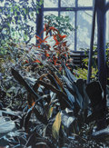 Fine Art - Painting, American, Roger Howrigan (American, 20th Century). Untitled #10,1978-81. Oil on canvas. 48 x 36 inches (121.9 x 91.4 cm).Initial...