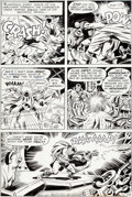 Original Comic Art:Panel Pages, Jack Kirby and Wally Wood Sandman #6 Story Page 12 Original Art (DC, 1975)....